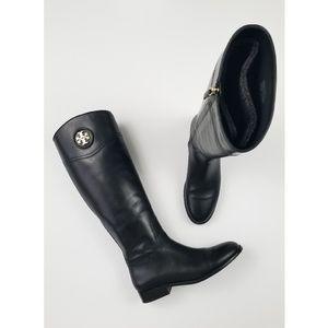 Tory Burch Ashlynn Black Leather Riding Boots 10.5